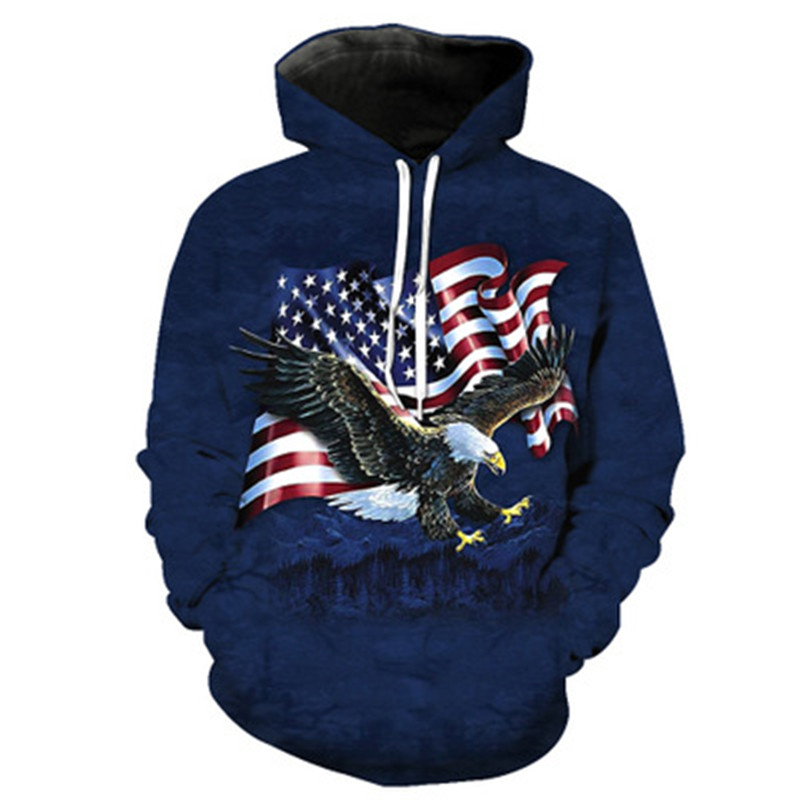 Droshipping Eagle Hoodies For Men/Women Sweatshirt Hooded 3d Brand Clothing Cap Hoody Print Multi Style Fashion Hot Hop US Size