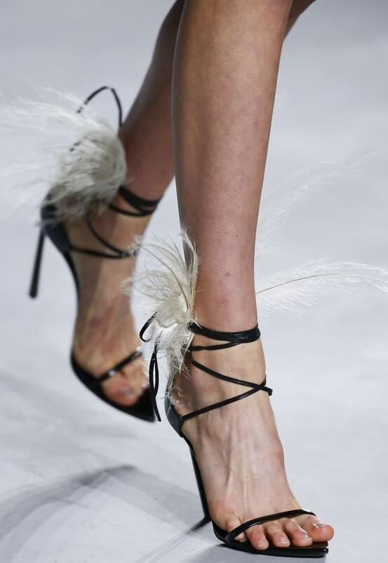 Cuir En Feminina Robe Chaussures Sandalias Sandales Dames Plume Cheville Femmes Formelle Talons Haute Black Sangle D'été Noir Valentine vqtIagHW
