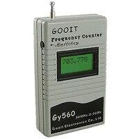 주파수 카운터 미터 테스터 양방향 라디오 트랜시버 GSM 50 백만헤르쯔-2.4 천헤르쯔 7 자리 LCD 디스플레이 신호 미터 GY560
