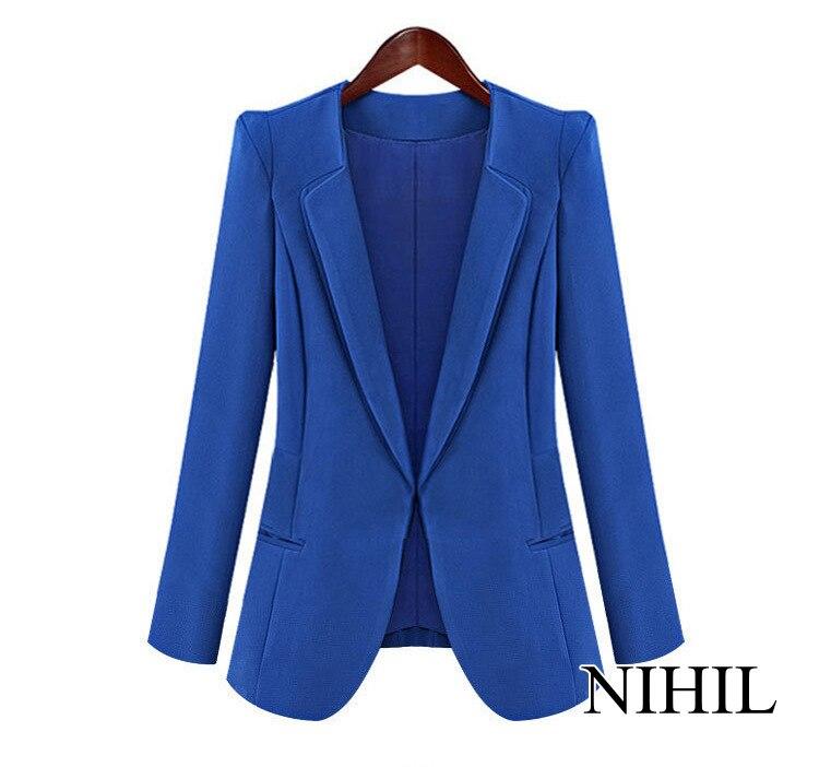 Черный blazer женщины Рабочая Одежда Мода Пальто куртки Новый 2016 Топы Для женщин Лоскутное Bodycon Костюмы одежда high street Blaser