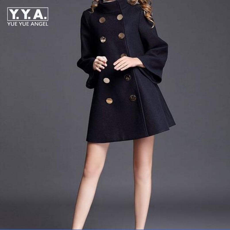 En Veste Mode D'hiver Manteau Poncho Laine Long Double Taille Supérieure Navy Femmes Automne Cachemire Qualité De Breasted Manteaux Grande n0Oqr0Wg6