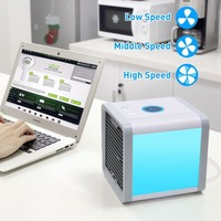 Body Massage Facial Body Massage Air Conditioner Cooling Fan With 7 Colors LED Lights USB Air Cooler Fan Humidifier Purifier