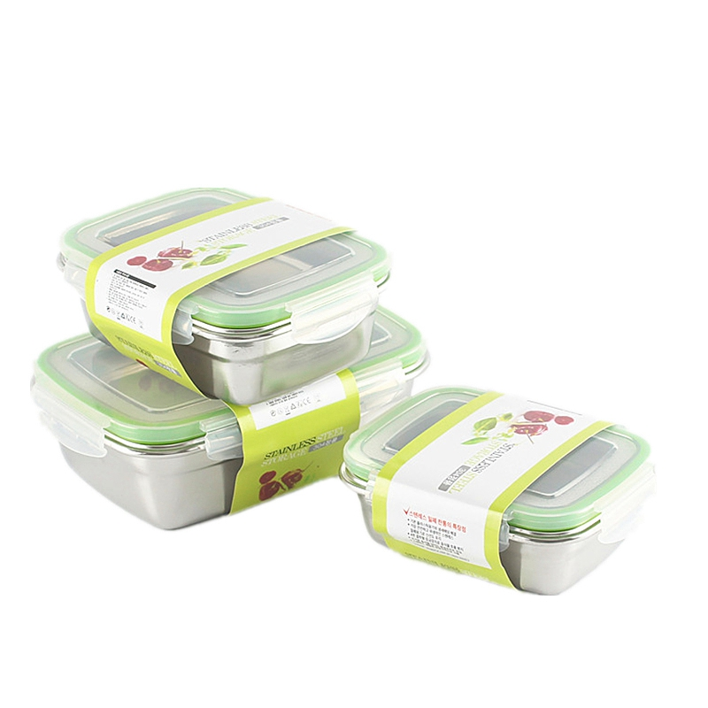 Stainless Steel Lunch Container for Student Outside Workers Leakproof Lunch Box Portable School Picnic Lunch Box Tableware