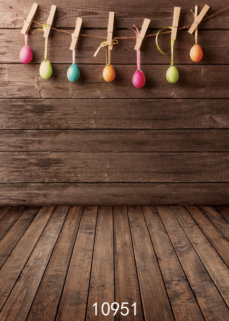 SJOLOON Easter photography background colorized eggs photography backdrops wood floor vinyl photo backdrop for baby studio props easter day eggs in straw photography backdrops dry branches fotografia photo background for photo studio photography background
