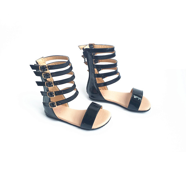 Модные Обувь для девочек в римском стиле Сандалии для девочек ручной работы для Сандалии для девочек детская обувь принцессы обувь Нескользящие Детские Сандалии для девочек От 2 до 5 лет Бесплатная доставка