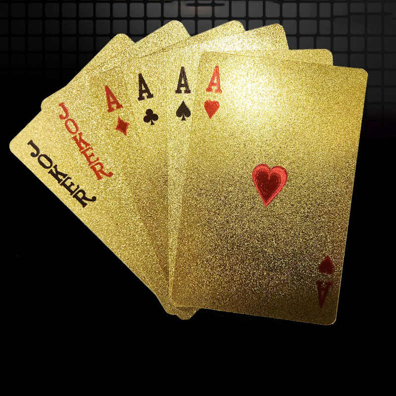 Gold Foil Plastic Playing Cards Fun Board Game Collection Creative Poker Set Magic Card Waterproof Cards Set Playing Cards Aliexpress