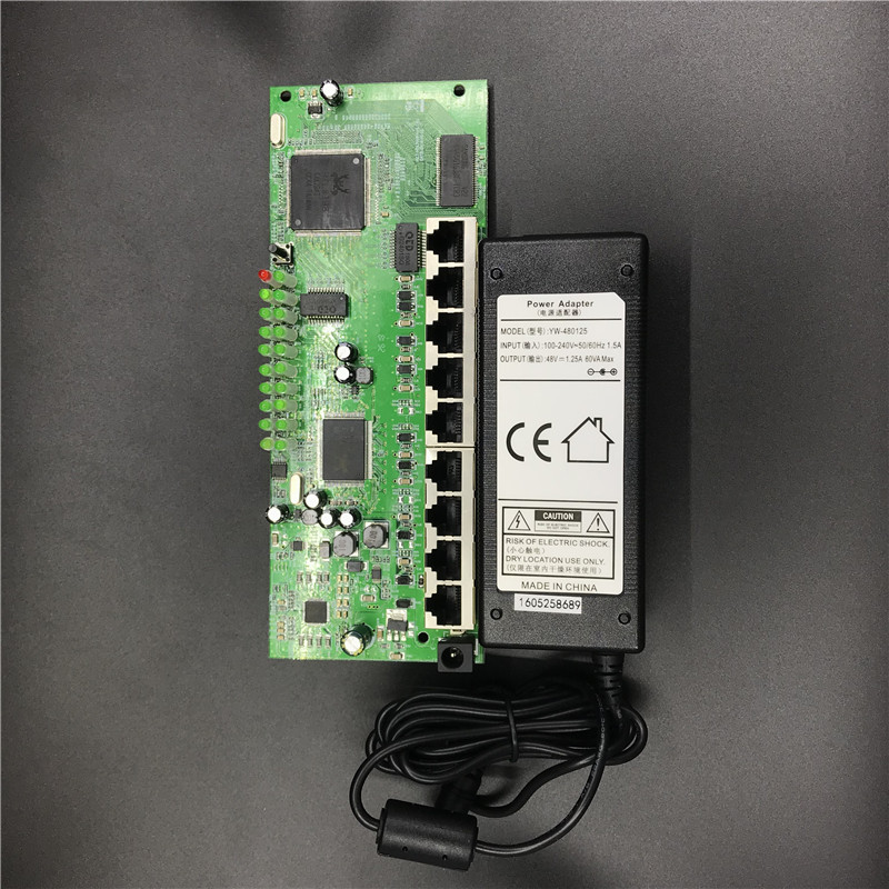 OEM 9 port POE router module manufacturer t sell  full Gigabit 10/100/1000M POE 48V2A router modules OEM wired router module 4