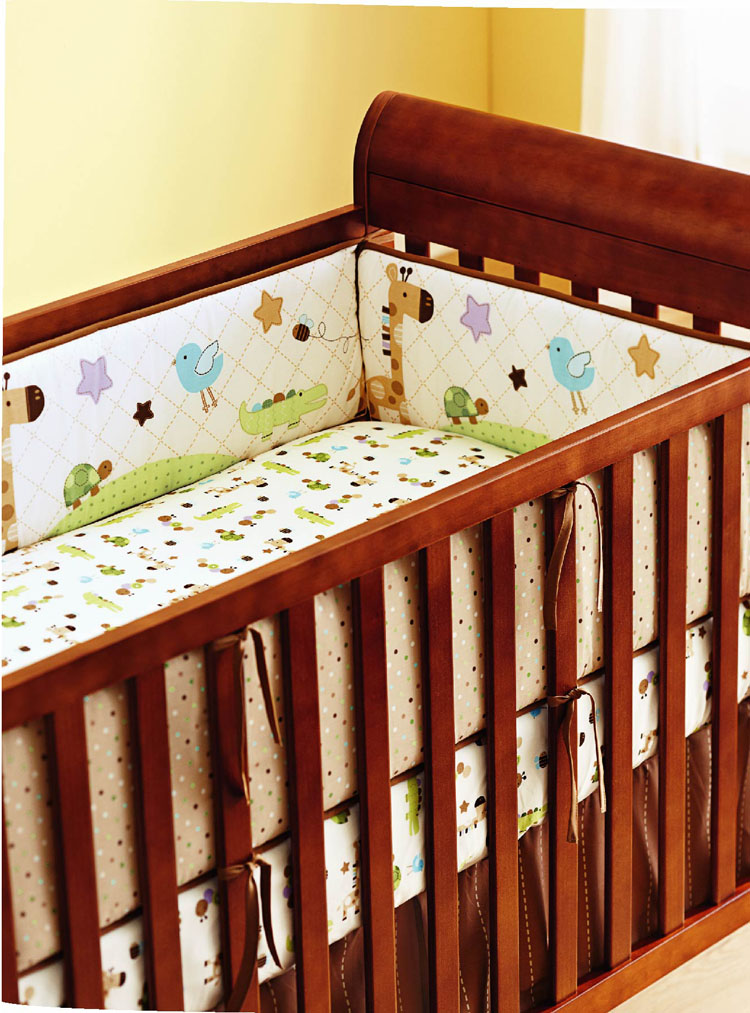Promotion! 5PCS Embroidery Cotton Baby Nursery Cot Crib Bedding Set Bumper for Boy(4bumper+bed cover) promotion 5pcs embroidery cotton baby nursery cot crib bedding set bumper for boy 4bumper bed cover