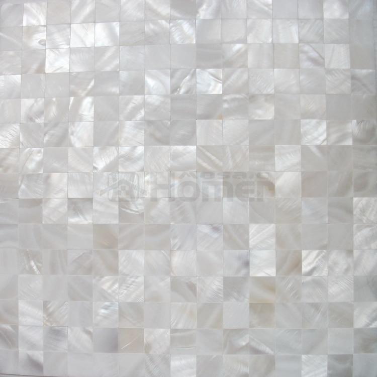 mozaikové dlaždice z čistě bílé skořápky, mozaikové - Dekorace interiéru