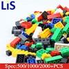 Lis 500 1000 2000Pcs Model Building Kits Bricks City DIY Creative Brick Toys Educational Bulk
