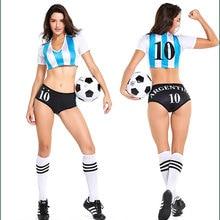 Сексуальное женское белье-Униформа футболист Аргентина черлидер футбол красивое платье для девочек костюм P2809