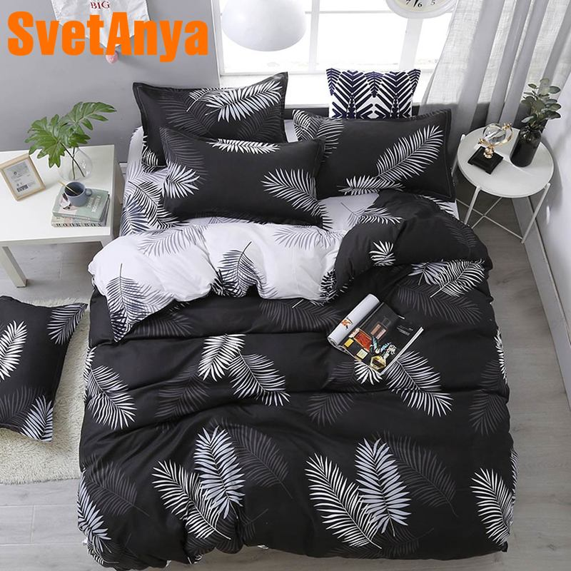 Svetanya cheap Linens print Bedding Set single double Bed Size-in Bedding Sets from Home & Garden