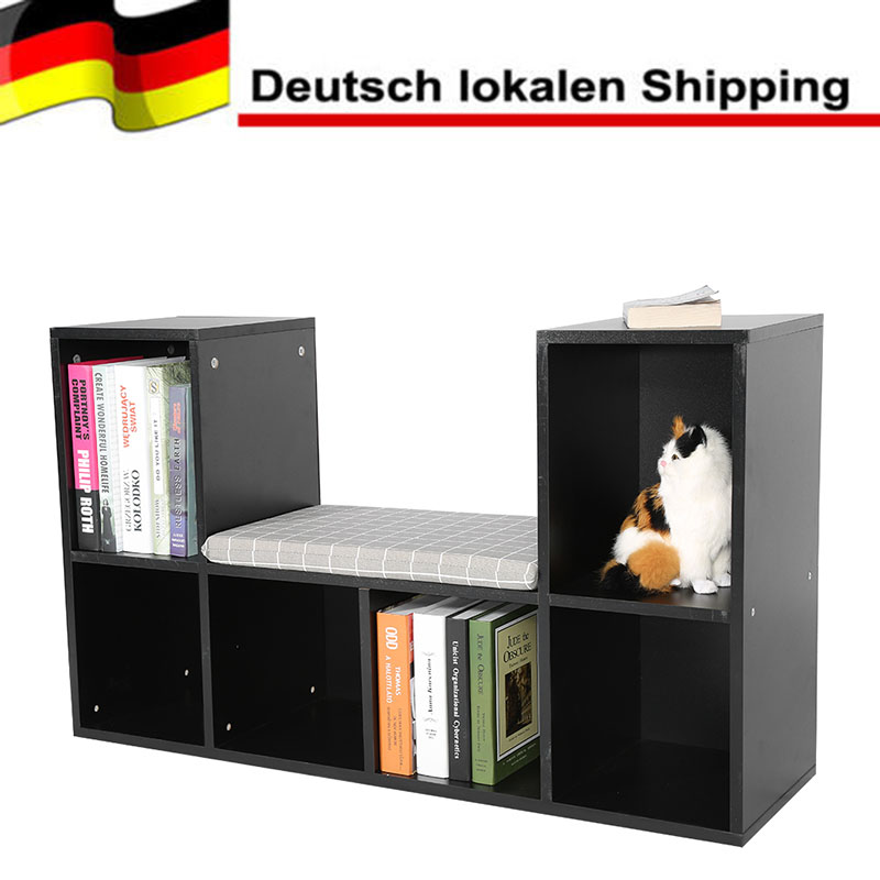 Multi-functional Storage Shelf Bookshelf Bookcase with Reading Nook Home Office Use desk shelf maderas opbergkast wooden shelf цена