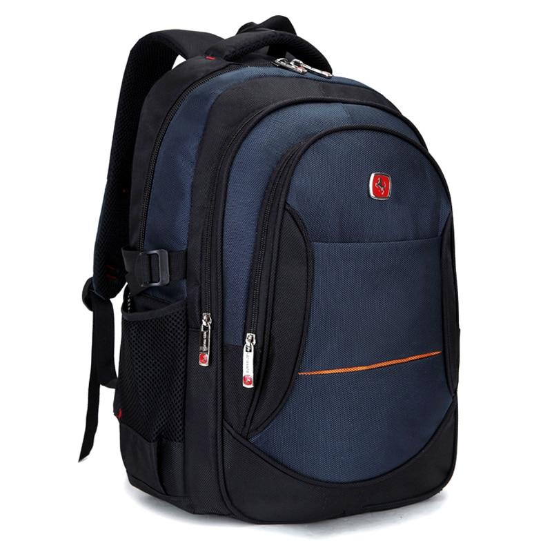 Men Backpacks 2017 New Nylon School Bags for Teenagers Large Capacity Women Travel Knapsacks Men's 15.6 inch Laptop Backpacks