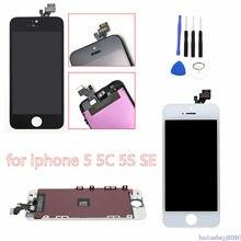 AAA + + جودة شاشة الكريستال السائل ل فون 6s اللمس غيار للشاشة ل فون 5 5c 5s SE 4s لا الميت بكسل + الزجاج المقسى + أدوات + TPU