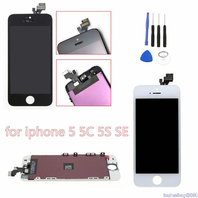 AAA ++ Display LCD de Qualidade Para iPhone 6s Substituição Da Tela de Toque Para o iphone 5 5c 5S SE 4S Não dead Pixel + Vidro Temperado + Ferramentas + TPU