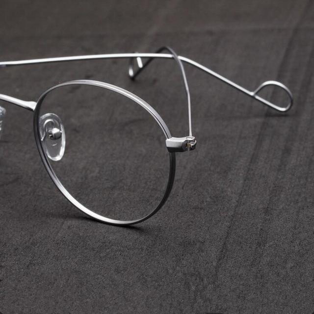 fe438c2495dc Vintage Hand Made John Lennon Oval Eyeglass Frames Retro Metal Wire Full  Rim Men Women Glasses Spectacles Myopia Rx able