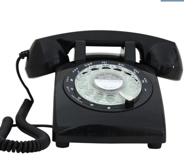 Retro ringing tones vintage retro telephone dial rotation telephone 1960