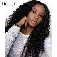 Шелк базы парики глубокая волна Синтетические волосы на кружеве натуральные волосы парики для Для женщин Бразильский Шелковый топ кружева