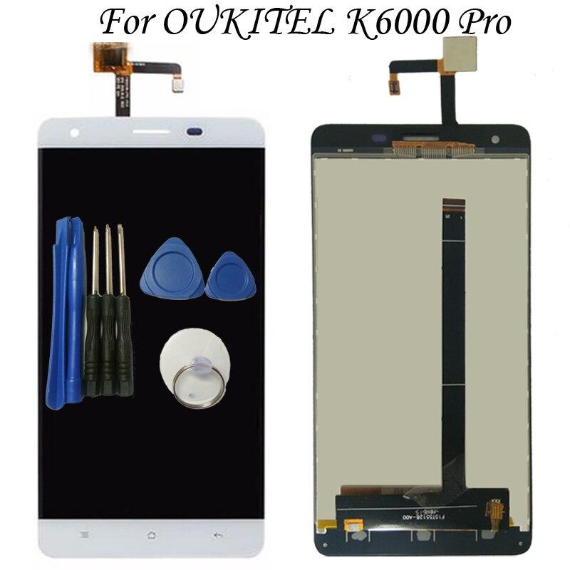 100% Testé OK Pour Oukitel K6000 Pro Écran lcd + écran tactile Assemblée de remplacement Avec Des Outils Libres Livraison Gratuite DANS Stock