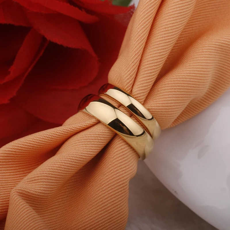Letdiffery السلس خواتم خطوبة من الستانلس ستيل الذهب بسيط 4 مللي متر النساء الرجال عشاق مجوهرات الزفاف هدايا الخطوبة