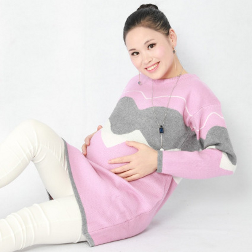 Large Size Pregnant Women Sweater Spring Autumn Winter Dress Long-sleeved Knitted Bottoming Shirt Maternity Sweaters women slim white dress 2017 new autumn winter long sleeved pullover turtleneck knitted dress bodycon basic casual wear vestidos