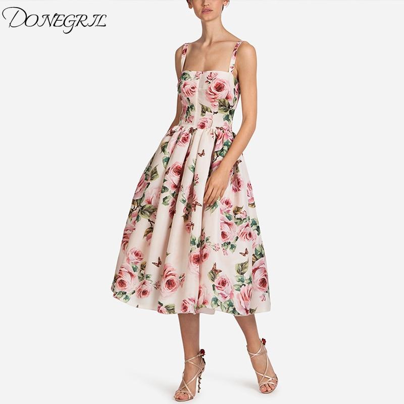 8fc7968410d33 Sangle Boho Plage Rose Color Dames Femmes Sexy Longue D'été Vintage Robe  Imprimé 2018 Bohème ...