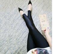 Femmes Leggings Plus La Taille 4xl Mode Slim Fit Brillant Legging 2xl 3xl Grande Taille Dames Vêtements Automne Élastique Stretch Taille noir