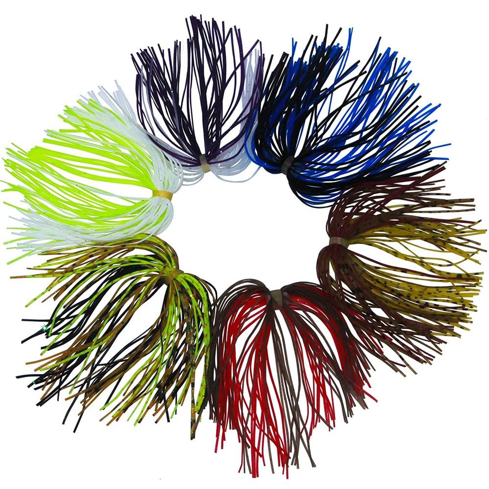 Qté: 5 Per Pack Pro-Cravate Jupes Bass Spinnerbait chatterbait pêche leurre jupe