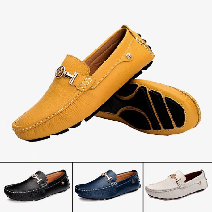 2015 Casual Genuine Leather Flats shoes Men Slip Moccasins Boat Shoes Loafers Brand New Driving - Afunti Trading Co., Ltd. store