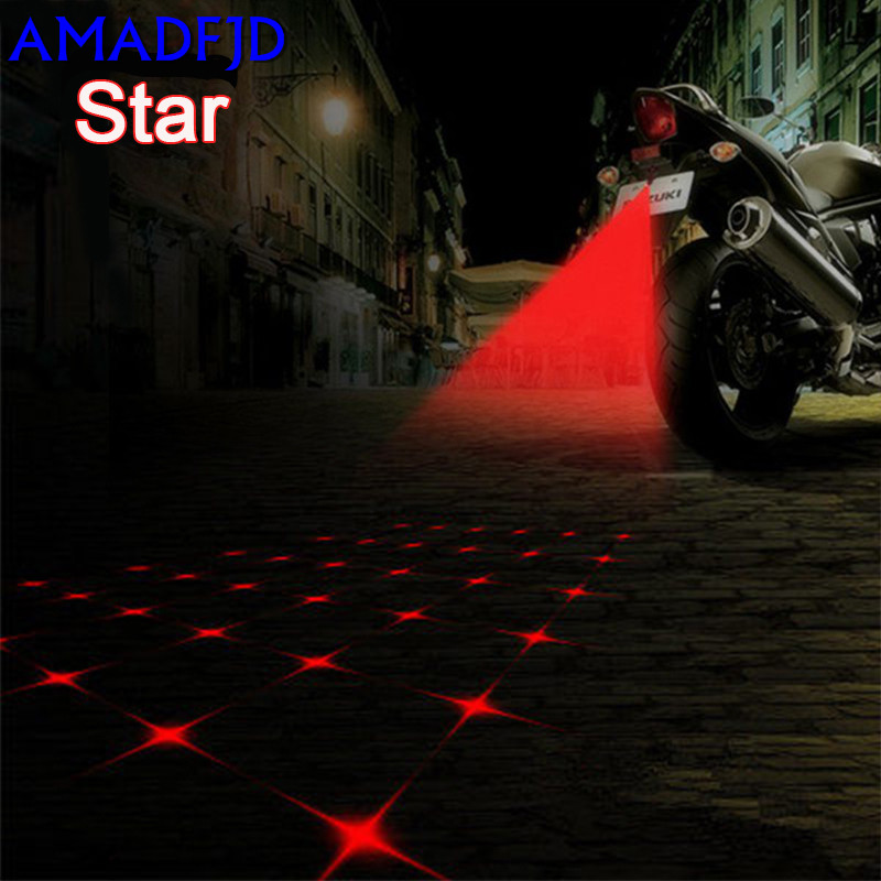 Motorcycle modified accessories lanterns laser spotlights anti-rear-end warning fog lights brake rear taillights led decorative xuankun off road motorcycle modified led taillights turn lights brake lights license plate tail lighthouse