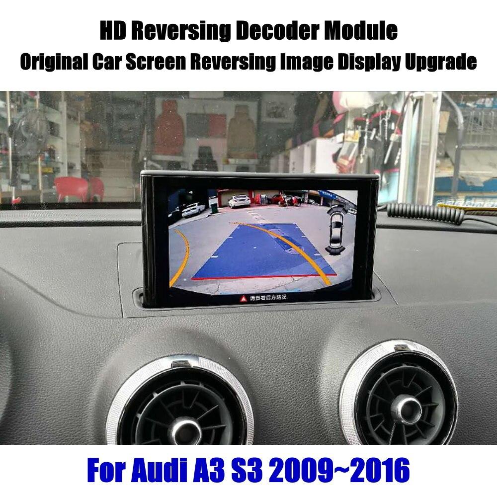 A3 S3 Liandlee Para Audi 2009 ~ 2016 Decodificador HD Caixa Jogador de Atualização de Tela de Imagem Da Câmera Do Carro de Estacionamento Traseiro Reverso de Atualização da tela