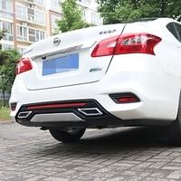 For Sentra Rear spoiler ABS Rear Bumper Diffuser Bumpers Protector For Nissan Sentra Body kit bumper rear lip rear spoiler 2016
