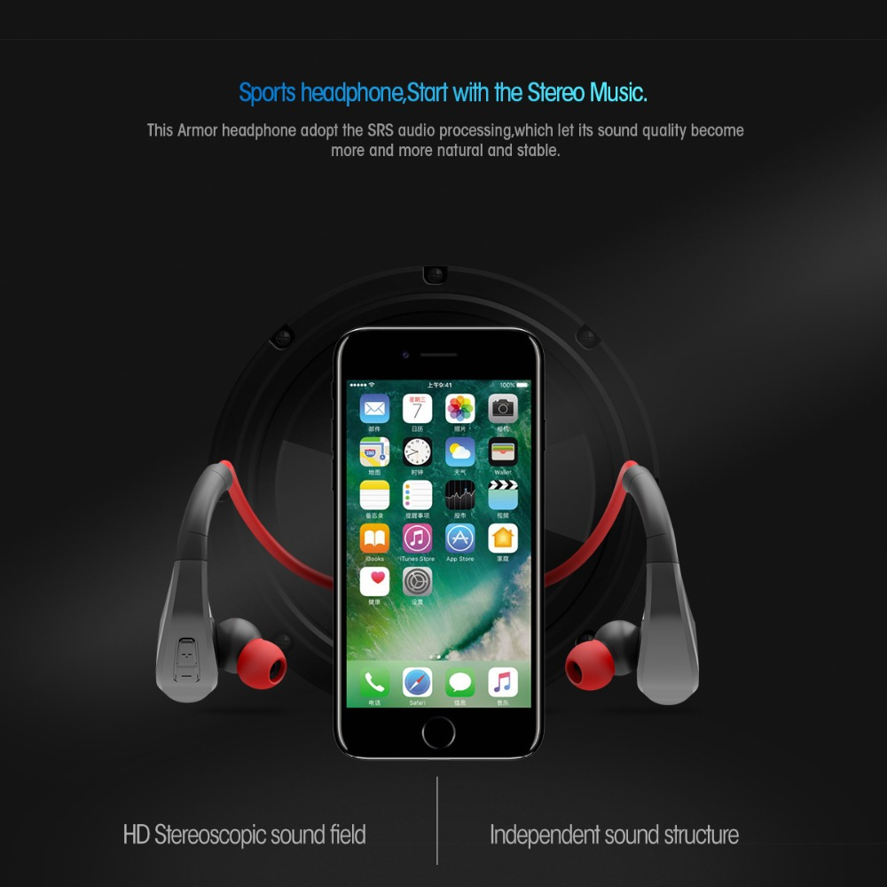 DACOM G06 Wireless Headphone Bluetooth Sports Earphone IPX5 Waterproof  Neckband Stereo Headset wit Microphone for iPhone Samsung