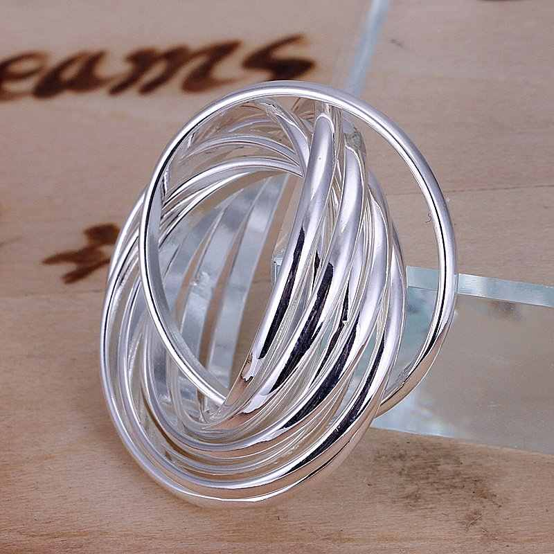 2017 настоящие кольца anillos классические r007 Бесплатная доставка Оптовая цена Стерлинговое Серебро 925 женские модные ювелирные изделия аксессуары Подарки