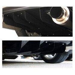 Uniwersalny Auto dyfuzor tylnego zderzaka ABS płetwy rekina podwozie Spoiler samochodu ponownie zamontować akcesoria w Chromowane wykończenia od Samochody i motocykle na
