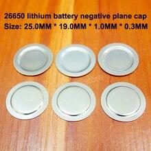 25pcs/lot 26650 Lithium Battery Anode Negative Spot Welding Cap Film 26700 Cathode Ear Accessories