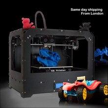 zrprinting Desktop 3D Printer Optimized MK8 Dual Extruder – High Precision – w/PLA