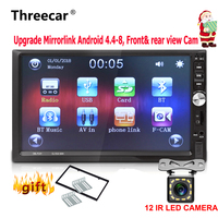 7 inch 2 Din Car Radio Stereo 1024*600 car universal mirrorlink Android Bluetooth USB double din auto radio rear view cam no dvd