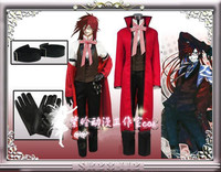 Anime Black Butler Grell Sutcliff Cosplay Costume Death Uniform Suit Full Set For Unisex Halloween Party Custom Make Any Size