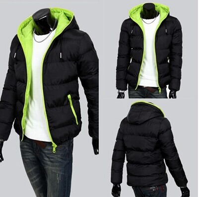 mens winter jackets for men wadded jacket with hood outerwear ...