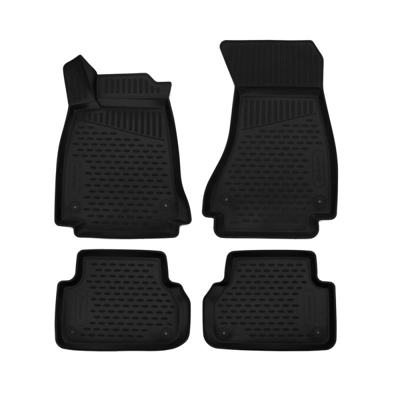 Car Mats 3D salon For AUDI A4, 2016->, sedan/Avant/Allroad, 4 PCs (polyurethane) for audi a4 carbon rear spoiler v style a4 b9 carbon fiber rear spoiler rear trunk wing 4 doors sedan for audi a4 b9 2016 2017