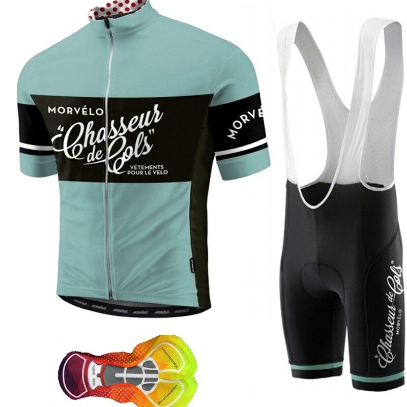 Morvelo 2018 Трикотаж Короткий рукав велосипед нагрудник шорты для женщин комплект Велосипедный спорт спортивная для мужчин дышащий цикл
