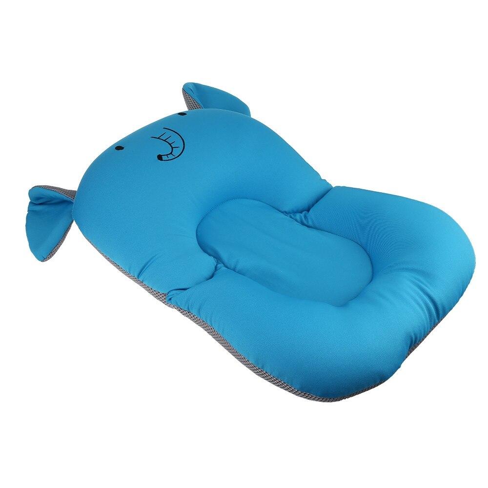 Противоскользящий детский коврик для ванной, Складное Сиденье для душа, Детская ванна, шезлонг, нескользящая защитная подушка для ванной, мягкая губчатая подушка для новорожденной кровати - Цвет: royal blue