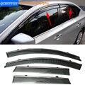 Stylingg Toldos Abrigos 4 pçs/lote Viseiras Da Janela do carro Para Nissan Sylphy 2007-2016 Sol Chuva Escudo Adesivos Covers