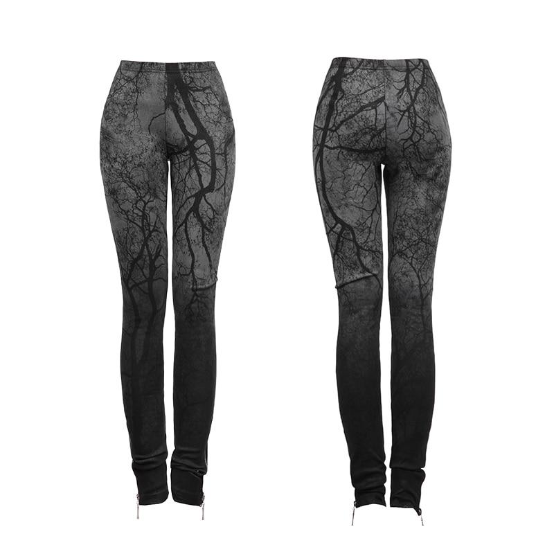 181 K Femmes Foncé Forêt Gothique Taille Stretch Capris Black Noir Pantalon Punk Haute Rave Tricoté Femelle Mince Serré 3d Impression 4RnUxAxF