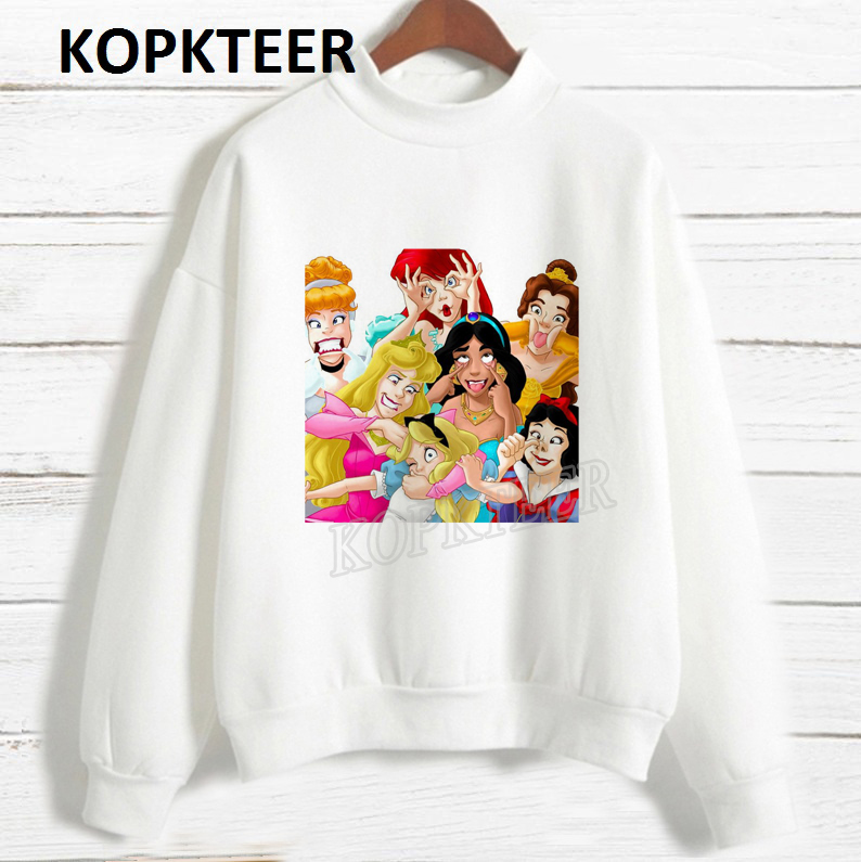 Harajuku Hoodie Sudadera Mujer Funny Princess Vogue Graphic Sweatshirt Women Hoodies Sweat Femme 2019 Kawaii Streetwear