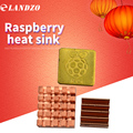 LANDZO 3pcs of Pure Copper Heatsinks 3 Pieces of Heat Sink Cooling Kit for Raspberry Pi 3 Model B Ras PI3 PI 3B PI 2 PI 3