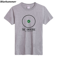 The Big Bang Theory T SHIRT GEEK Printed The Universe Any Question T Shirts For Men