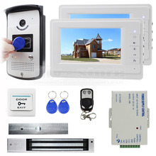DIYSECUR 7 inch Monitor Video Door Phone Video Intercom Entry System 700TVL Camera RFID Keyfob Remote Control Unlock